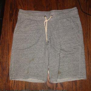 Gray sweat short